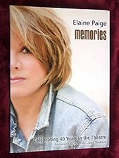 ELAINE PAIGE SIGNED - MEMORIES: 40 Years in Musical Theatre, Andrew Lloyd Webber