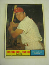 1961 Topps #154 Bobby Del Greco Baseball Card, Good Cond (GS2-b7)