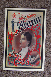 Harry Houdini magician poster #7 1893 King of the Cards