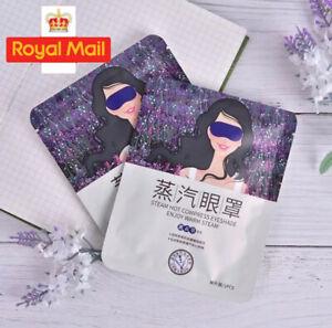 Lavender Steam Eye Mask Dark Circle Remover Face Skin Care Eye Bags Soft Skin UK