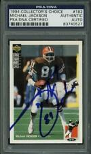 Browns Michael Jackson Signed Card 1994 Collector'S Choice #182 PSA/DNA Slabbed