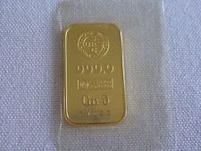 24 KT YELLOW GOLD 999.9 ESSAYER FONDEUR 5 gram BAR # 27683 UNION BANK .RARE