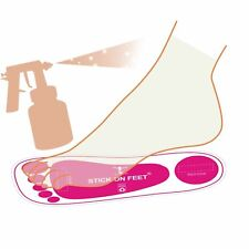 Economy 25 Pairs(50Feets) Pink Spray Tan Sticky on Feet For Tanning Sun Care