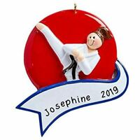 "Personalized "" KARATE GIRL "" Christmas Hanging Tree Ornament HOLIDAY GIFT 2020"