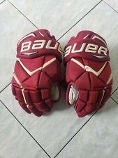 Boston College Eagles Bauer 1x pro stock hockey gloves, 14s, great shape, poron