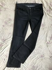7 SEVEN for all MANKIND Bootcut Blue Jeans Stretch W25/L34 x-low waist regular