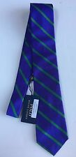 NWT $125 POLO RALPH LAUREN HAND MADE IN ITALY SILK TIE PURPLE W/ GREEN STRIPE