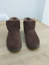 Skechers Brown Suede Ankle Boots Size 6