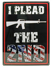 "I Plead ""The 2Nd"" Ar-15 Hunting Humor Funny Wall Den Indoor/Outdoor Sign 17""X12"""