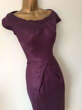 Coast purple dress size 12 14 vgc