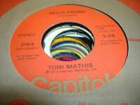 HEAR! Northern Soul Crossover RARE 45 TONI MATHIS Hello Friend on Capitol