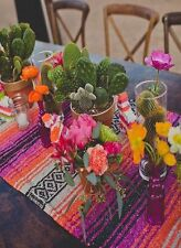 """Mexican Falsa Classic Blanket Table Runner 70"""" by 13"""".  Choose from many colors"""
