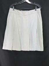 Worthington Womens Stretch White Lined Pleated Bottom Straight Skirt  14