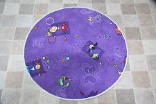 Purple Girls BEDROOM PLAY MAT RUG Girly CERCHIO 80 CM Principessa Fairies TAPPETO DANCE
