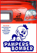 Pampers Bomber Tuning Sticker Baby on Bord Aufkleber OldSchool Decal