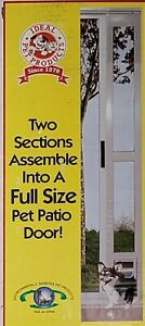 "IDEAL PET PRODUCTS MODULAR PATIO DOG DOOR WHITE MEDIUM FLAP 77 5/8"" - 80 3/8"""