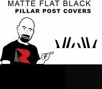 Rtrim Flat Matte Black Pillar Post Trim Cover for Buick Verano 2012-2015