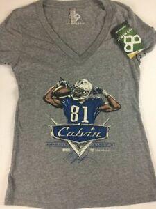Calvin Johnson T-Shirt Womens SZ S/M V-Neck Detroit Lions Motor City Classic #81