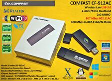 RASPBERRY WIFI 2.4Ghz 5Ghz Realtek RTL8812AU 802.11AC 867Mbps Linux USB 3.0