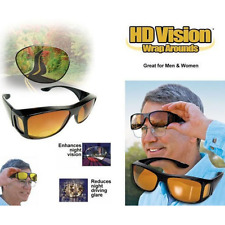 The Real Wrap Arounds Fit Over Night Vision Driving Anti Glare HD Glasses Yellow