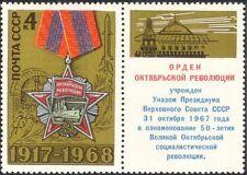 Russia 1968 rivoluzione d'ottobre/medaglia/SPEDIZIONE/Rocket/MILITARI 1v+lbl (n21113)