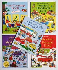 5 Richard Scarry's - Counting, Funniest, Mystery, Busiest People Cars + Trucks
