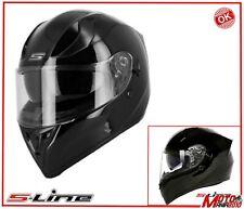 CASCO MOTO NAKED INTEGRALE  SLINE S441 NERO LUCIDO ☆ TG  S 55/56