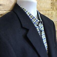 Jos A Bank Mens 42L 100% Camel Hair Blazer Navy Blue Two Button Sport Coat