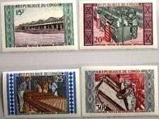 KONGO BRAZZAVILLE 1970 201-04 U 200-03 SOTEXCO Textilindustrie Textil Plant MNH