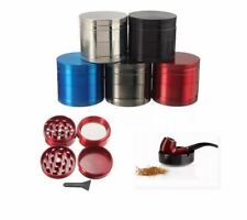 Chromium Crusher Grinder Herb 4 Pieces Handle silver 40mm  fa