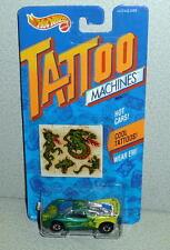 Mattel Hot Wheels Tattoo Machines DRAGON WAGON #3488 *MOC 1992 China