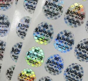 #6 Northland Tackle Replacement Rainbow Spin Scale Decals-Lot of 147 D6