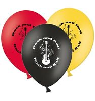 "Rock an Roll - 12"" Printed Modern Selection Assorted Latex Balloons pack of 12"