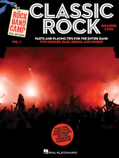 Classic Rock-Rock Band Camp Volume 1-Music Book/2-Cd'S-Guitar/D rums/Keyboard-New