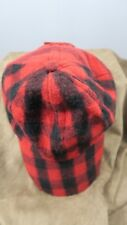 Burberry red plaid 100% cashmere baseball hat
