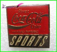 Pin's pins Badge Coca Cola Buvez coke SPORTS Carré #H3