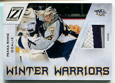 2010-11 Zenith Winter Warriors PEKKA RINNE Materials Prime Patch Rare SP #/50