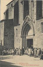 Tarjeta Postal. GRANOLLERS. Portada de la Iglesia parroquial.