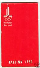 1980 Olympics SAILING Tallinn Press Centre Notebook New