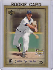 JUSTIN VERLANDER Upper Deck ARTIFACTS ROOKIE CARD Detroit Tigers RC Baseball ACE