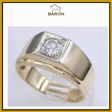 0.65 CARAT MENS DIAMOND RING 14K YELLOW GOLD & DIAMONDS MEN RING SIZE 9.5