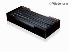 12x Leuchterkerzen 250x25 Schwarz Tafelkerzen Spitzkerzen RAL Gastro-Qualität