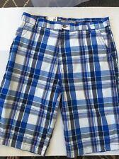 Blue Plaid Men's Shorts By M-0 Seven 34