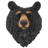 Large Resin Faux Bear Head Bust Black Bear Head Log Cabin Lodge Wall Decor