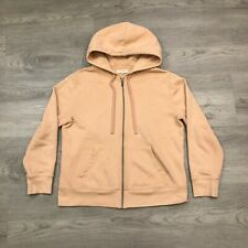 mile(s) By Madewell Womens Peach Zip Up Hoodie Embroidered Rainbow Size Medium