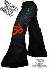 Cryoflesh OM Buddhist Cyber Goth Punk Rave EDC Psytrance EBM Mens Phat Pants
