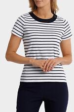 NEW Regatta Essential Duo Stripe Short Sleeve Tee Navy