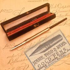 1880s MABIE TODD & CO TRAVEL SECRETARY BRUSH SOFT FLEX ANTIQUE VINTAGE DIP PEN