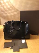 $3000 Auth Louis Vuitton Brea Handbag Black Patent Leather MM & $500 LV Charm