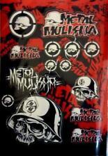 Set Autocollant Sticker 15 x Metal Mulisha Noir or 265 x 170 mm #m03